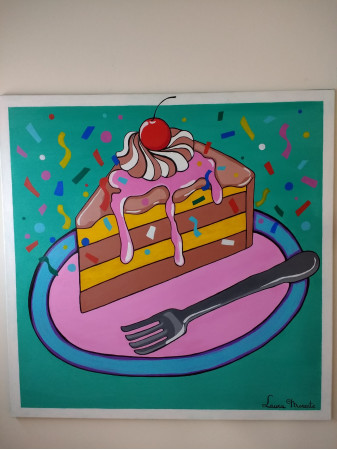 Trozo de pastel pop art