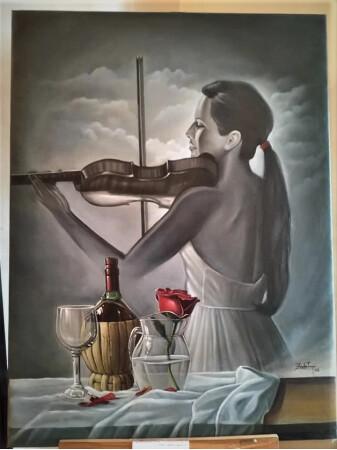 La violinista.