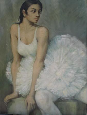 Bailarina sentada