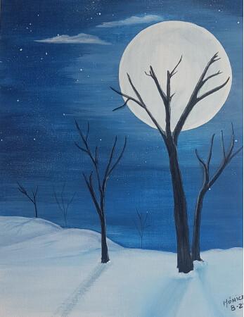 Nocturno en la nieve