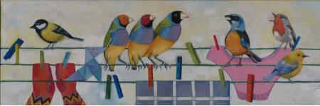 Tendal con pájaros