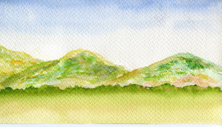 Paisaje montañoso.