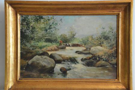 paisaje (Mujer en el río)