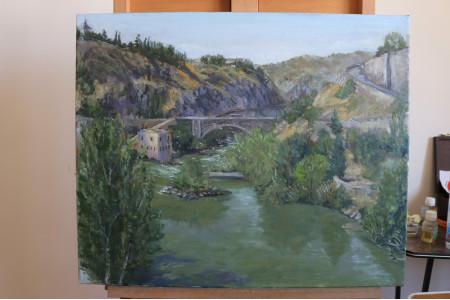 Vista desde el puente Alcántara