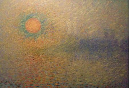 Efecto de sol sobre la bruma.