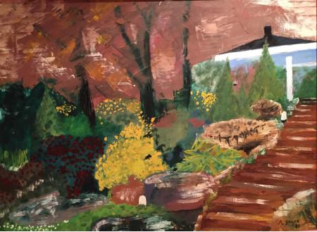 Escalera en el Jardin