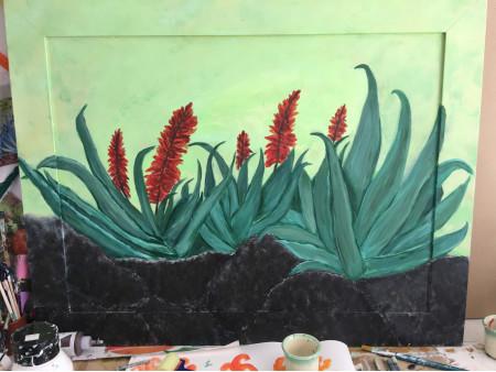 Aloe en el volcán
