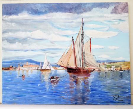 Barco de vela en Málaga