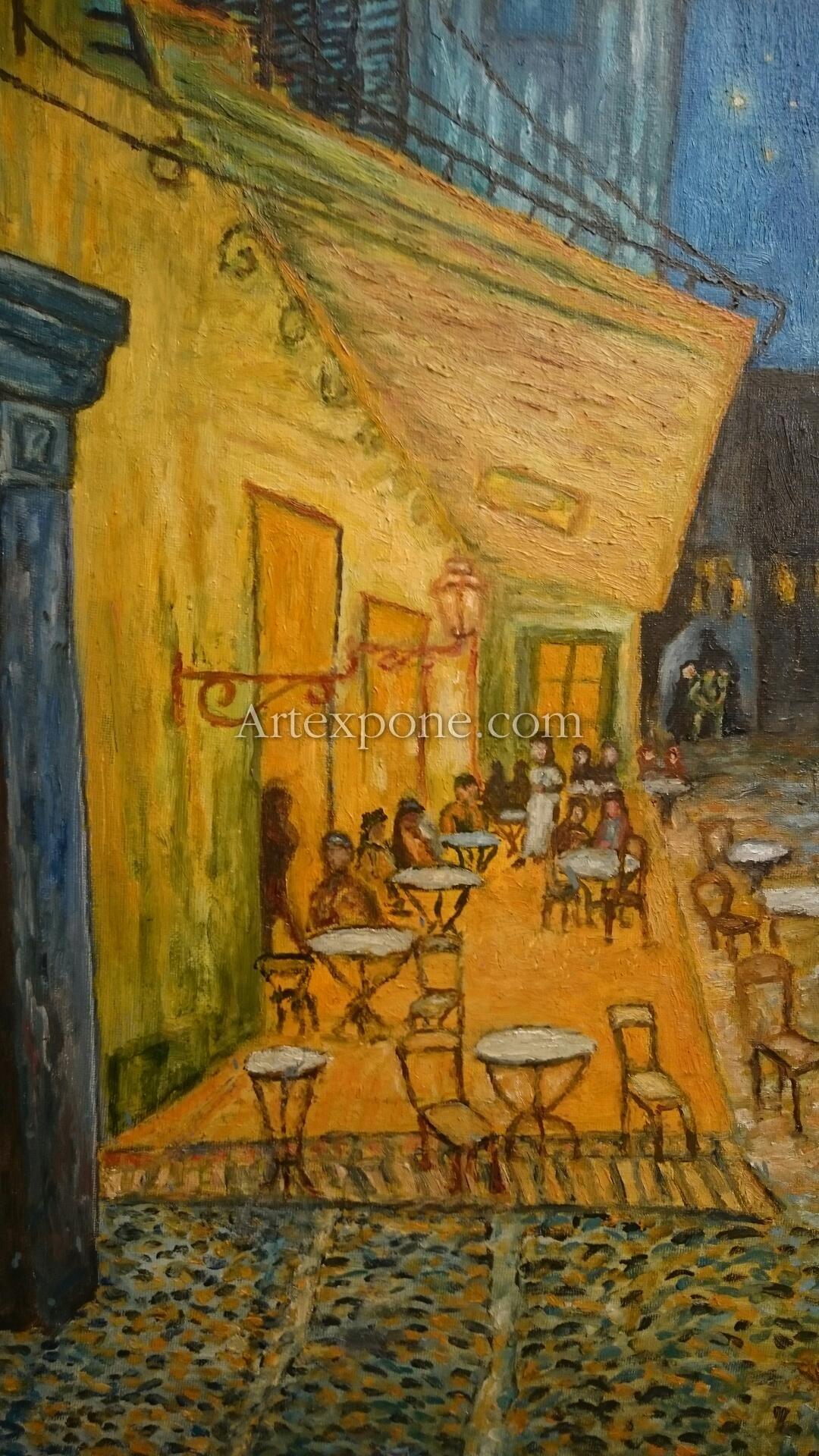 Terraza De Café Por La Noche Van Gogh Reproducción Del