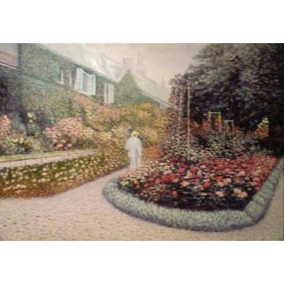 Claude Monet en su jardín. Giverny.