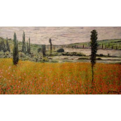 Amapolas. Tributo a Claude Monet.
