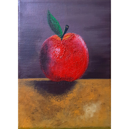 Manzana roja, mesa vieja