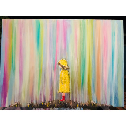 LA niña del chubasquero amarillo