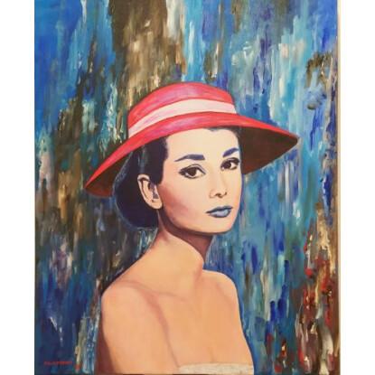Audrey en azul