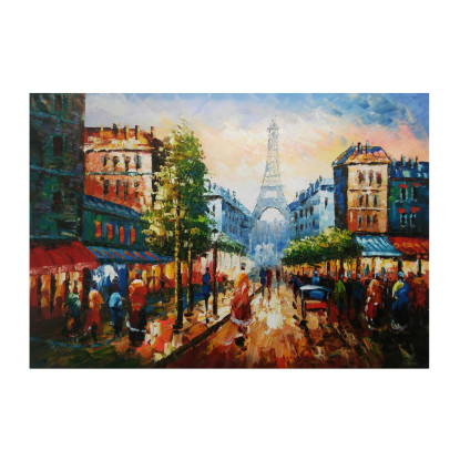 Paisaje Ciudad de Francia - Óleo sobre lienzo