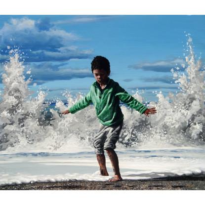 El niño y la ola