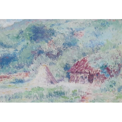 Paisaje Serrano en colores pastes