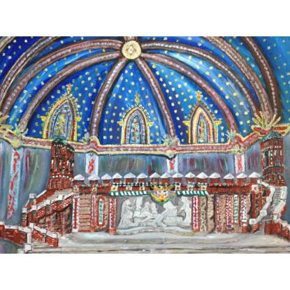 Escalinata envuelta por cúpula San Pedro