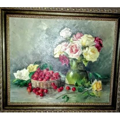 Rosas y cerezas