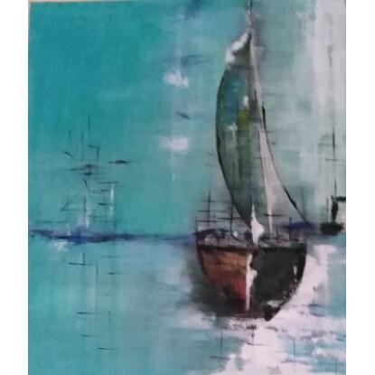 pintura acrílica sobre lienzo