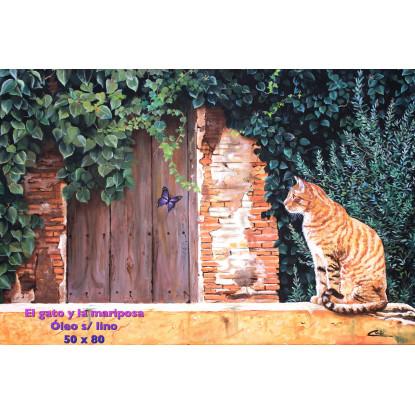 El gato y la mariposa
