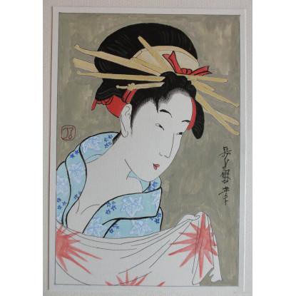 Pintura de estilo tradicional japonés