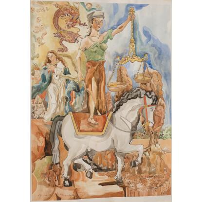 Boceto 4 para La Gran Tribulacion