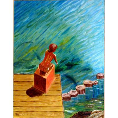 Banyoles, la nena de la pesquera