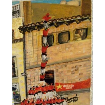 Rojo castellers