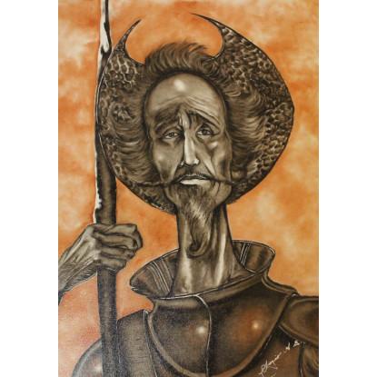 El Quijote de la Mancha y su mirada perdida