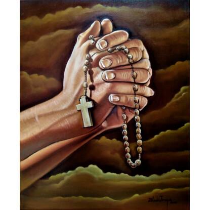 Orando a la intersección de la Madre de Cristo, nuestra Madre Universal.