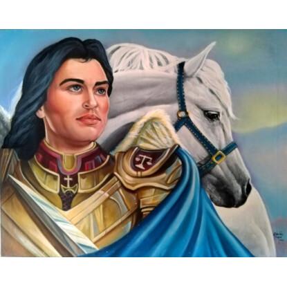 San Miguel Arcángel, en posición para la posesión del nuevo reinado de nuestro Señor Jesucristo en la Tierra.