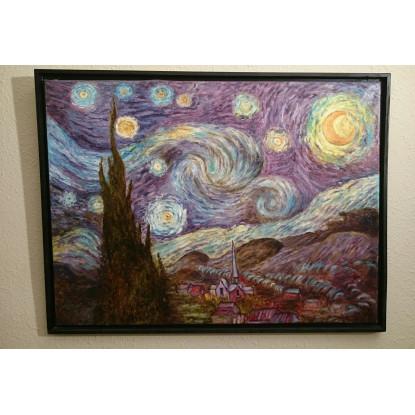 Noche estrellada. Van Gogh reproducción del original