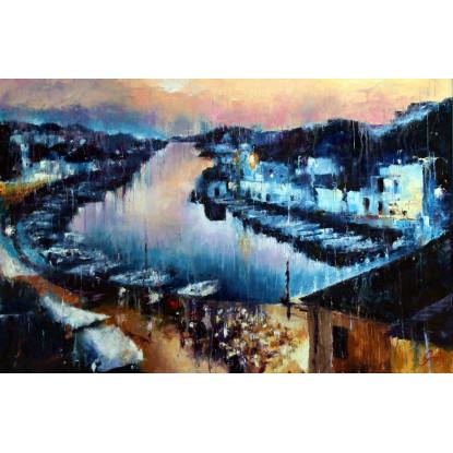 Anochece en Ciudadela (Menorca)