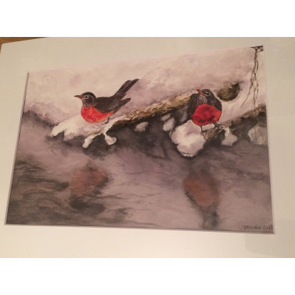Pájaros en la nieve