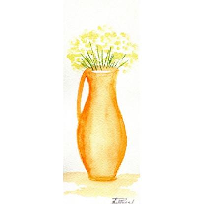 Jarrón con flores.
