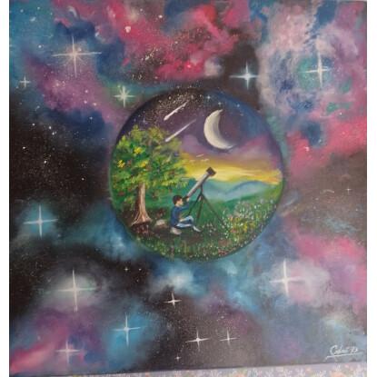 Amor a la astronomía conectado con el universo