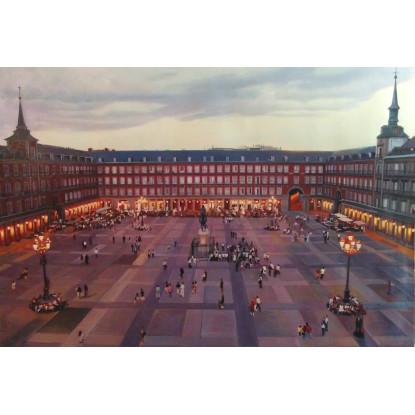 La Plaza Mayor de Madrid, Atardecer
