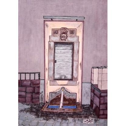 """""""EL POU CALENT"""" (Escudo año 1863)Fuente Termal  La Garriga"""