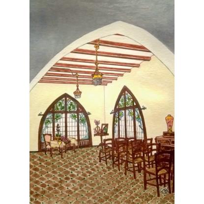 """INTERIOR CASA RASPALL (Detalle)"" Año 1903 ,donde nacióManuel.J.Raspall La Garriga)"