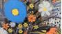 Florecimiento con saltamontes
